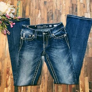 MISS ME   Bling Pocket Bootcut Jeans   25